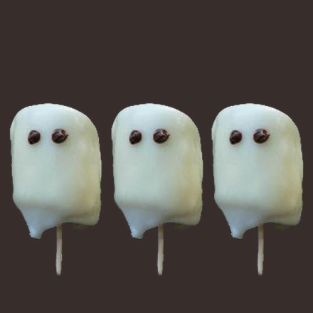 Fantasmas de marshmallows receita